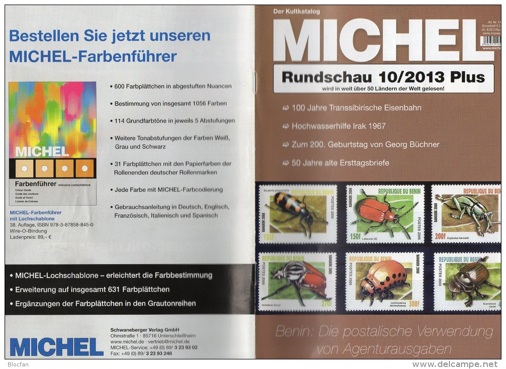 MICHEL Briefmarken Rundschau 10/2013 Plus Neu 5€ New Stamps World Catalogue And Magacine Of Germany ISBN 4 194371 105009 - Tedesco