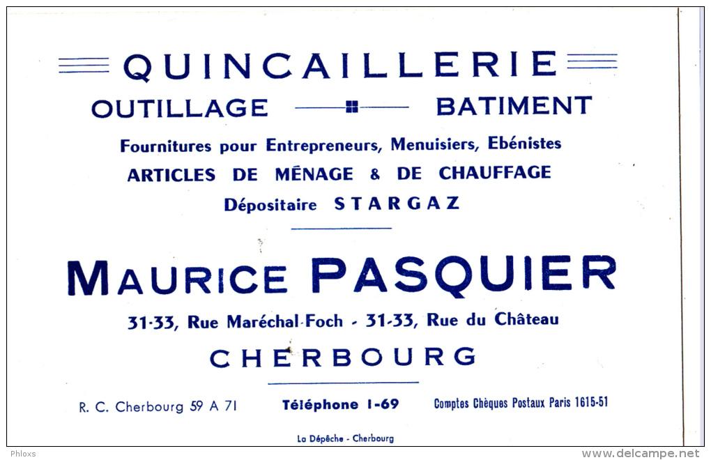 CHERBOURG/50/Quincaillerie Maurice Pasquier / Réf:C1558 - Facturas & Documentos Mercantiles