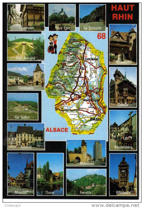 68 Le Haut Rhin N°8678 Carte D´Alsace Ferrette Eguisheim Ribeauvillé Altkirch Thann Munster - Non Classés