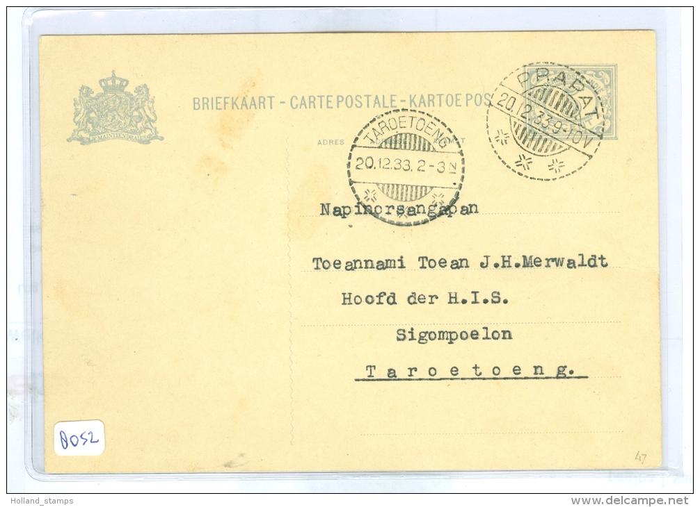 NED. INDIE * HANDGESCHREVEN BRIEFKAART Uit 1933 Van AMBARITA Naar TAROETOENG (8052) - Niederländisch-Indien