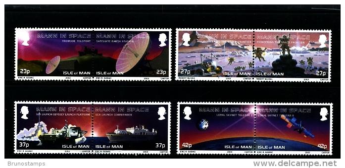 ISLE OF MAN - 2003  MANN IN SPACE SET MINT NH - Isola Di Man