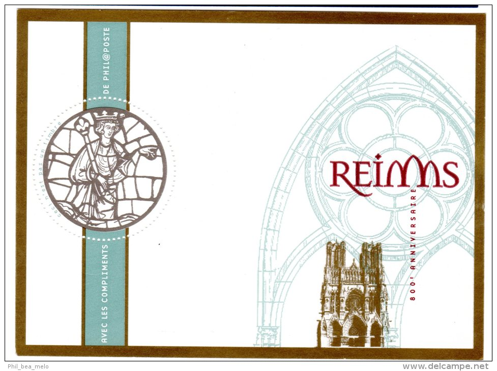 TIMBRE - FRANCE - CATHEDRALE DE REIMS - BLOC GOMME - ETAT NEUF - France