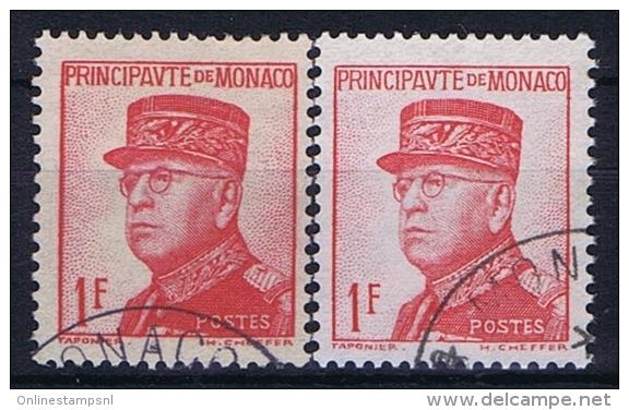 Monaco: 1938 Mi. Nr 163 + 163 A Used  176 A + B - Monaco