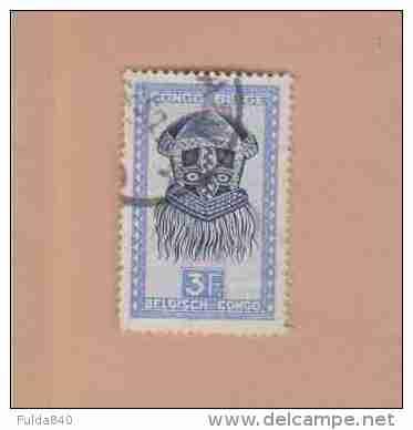 CONGO BELGE.  (COB) 1947 - N°288A   . Artisanat Et Masques.  * 3f -  Obl - 1947-60: Oblitérés