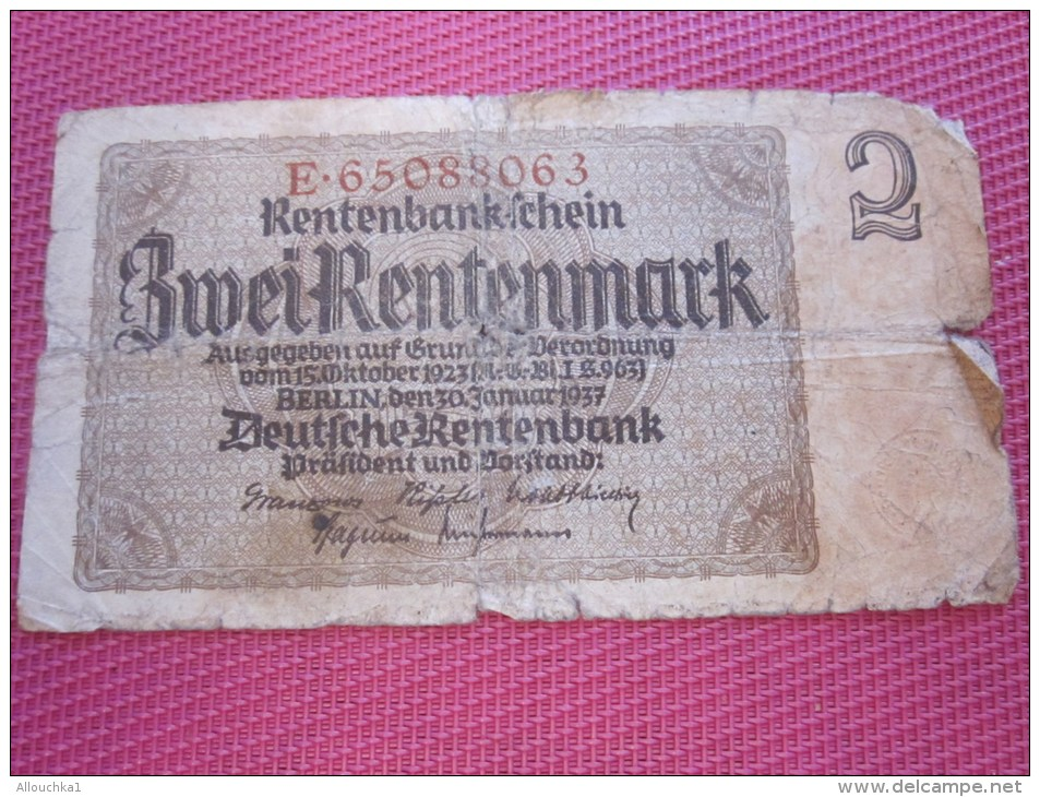 Berlin 1937 DEUTSCHEREUTENBANK BANK BILLET DE BANQUE BANCONOTE BANKNOTE BILLETES BANKNOTEN - [ 4] 1933-1945 : Third Reich