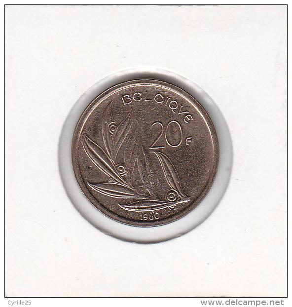 20 FRANCS Baudouin  1980 FR - 1951-1993: Baudouin I