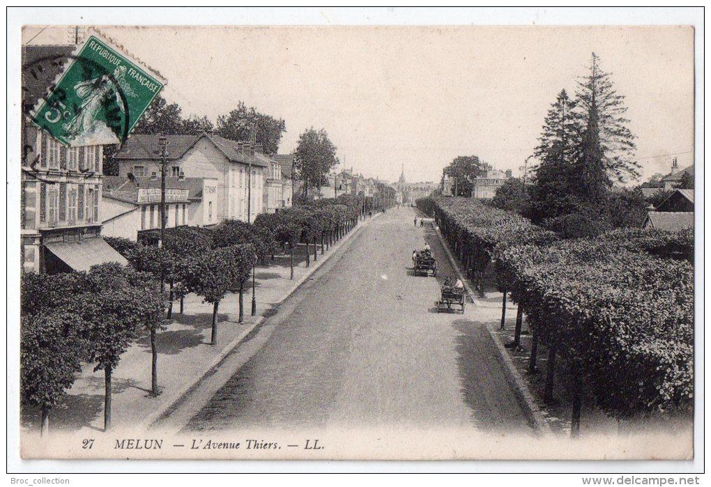 Melun, L´avenue Thiers, 1909, LL N° 37 - Melun