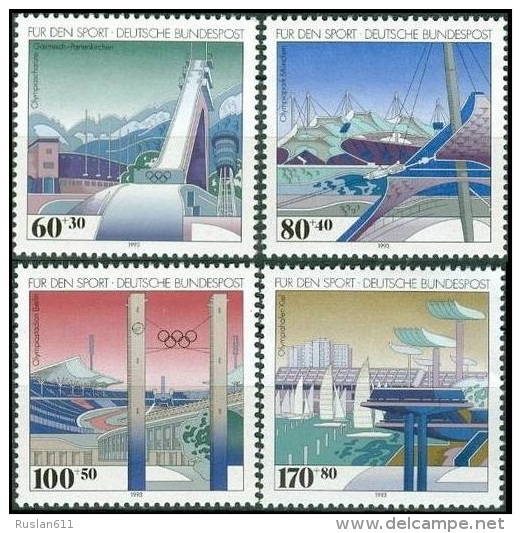 Olympic Games Germany 1994 #1650/3 Lillehammer MNH ** - Winter 1994: Lillehammer