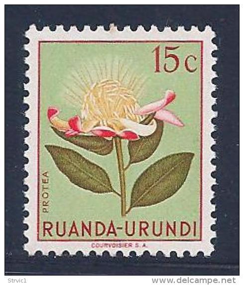 Ruanda-Urundi, Scott # 115 MNH Flower, 1953 - Ruanda-Urundi