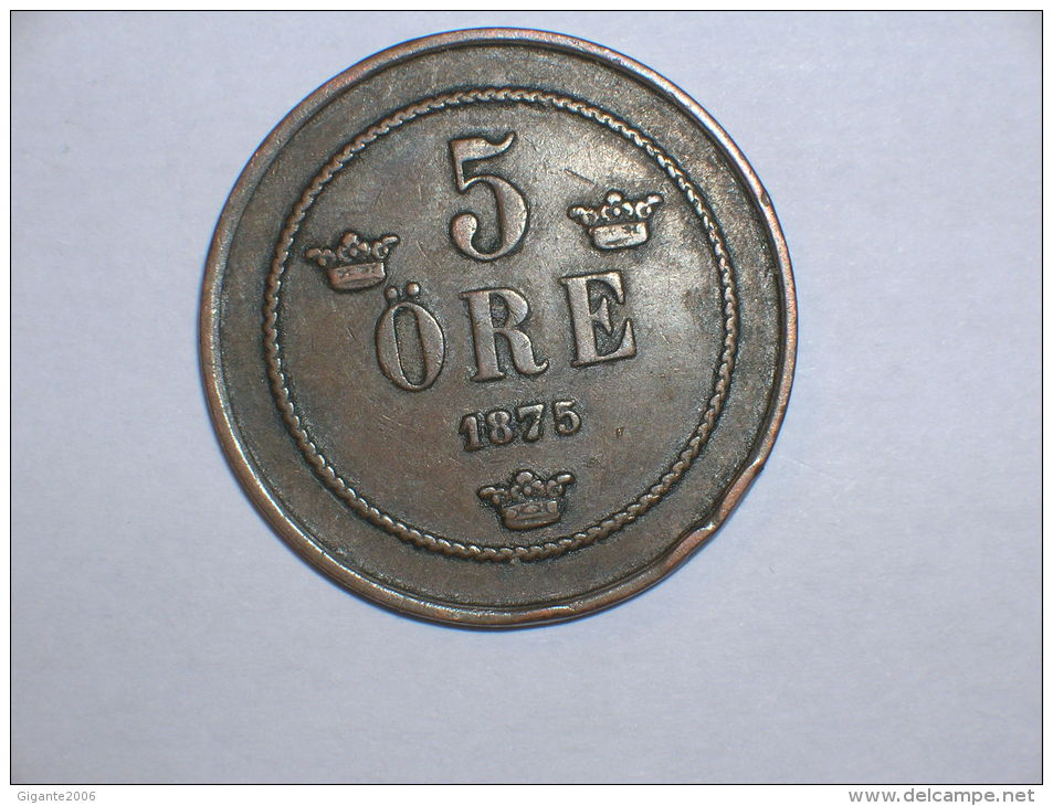 Suecia 5 Ore 1875 (5193) - Suecia