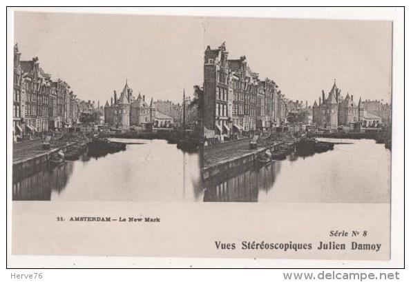 PAYS-BAS - AMSTERDAM - Le New Mark - Vues Stéréoscopiques Julien Damoy - Stereoscopische Kaarten