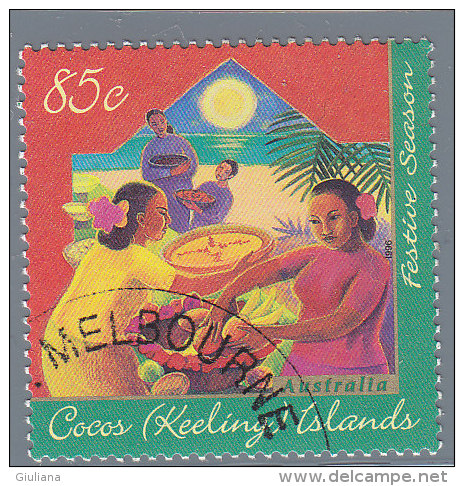 Isole Cocos  Yt 326 Used  Festive Season - Islas Cocos (Keeling)