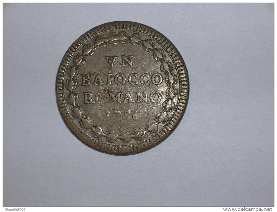 Estados Pontificios 1 Baiocco 1756 A.XVII (10160) - Vaticano (Ciudad Del)