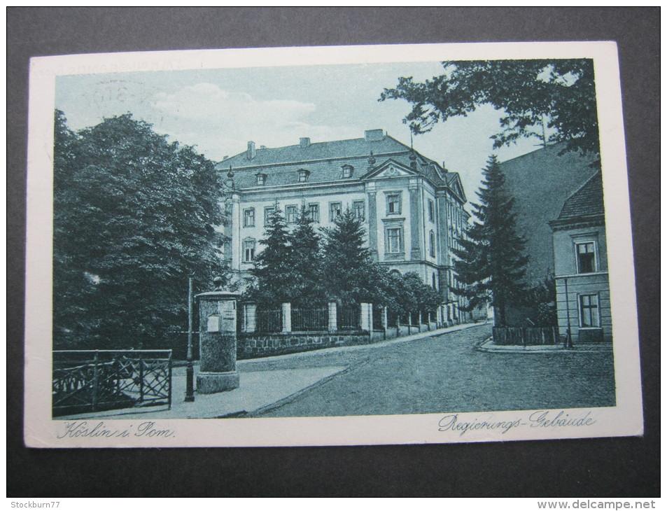 KÖSLIN, Karte Um 1929 - Pommern
