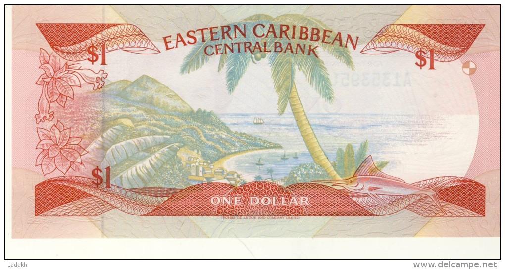 BILLET # CARAIBES ORIENTALES  # 1986/88 # PICK 17 # UN DOLLAR     # NEUF # - Oostelijke Caraïben