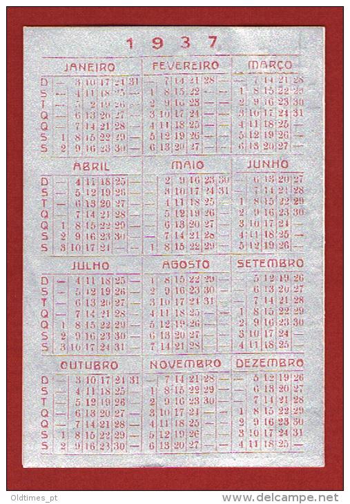 PORTUGAL - LISBOA -NEGRESCO - RESTAURANTE BAR - 1937 CALENDAR - Calendars