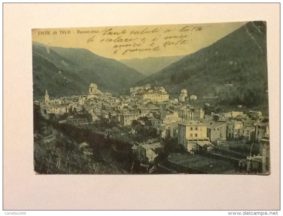 PIEVE DI TECO PANORAMA VIAGGIATA -E- - Imperia