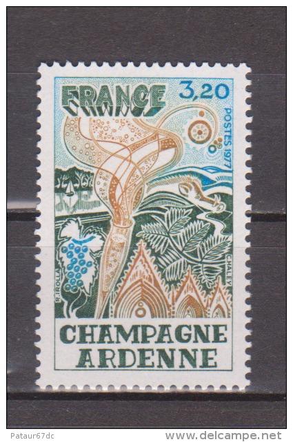 "FRANCE / 1977 / Y&T N° 1920 ** : ""Régions"" (Champagne-Ardenne) - Gomme D'origine Intacte - Neufs"