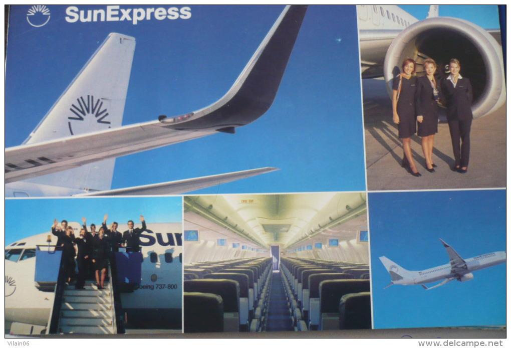 AIRLINE ISSUE /  CARTE COMPAGNIE    B 737   SUN EXPRESS - 1946-....: Modern Era