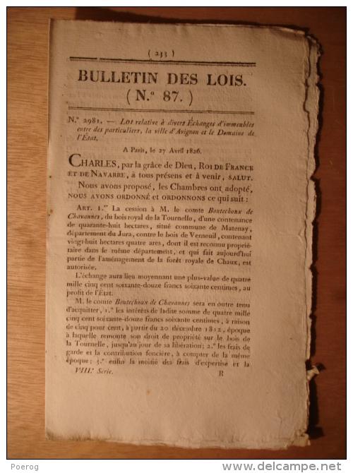 BULLETIN DES LOIS De 1826 - BOULANGER BOULANGERIE SAINT ETIENNE LOIRE - MOULIN DES FOURCHES ST MEDARD D'EXCIDEUIL LOUE - Décrets & Lois