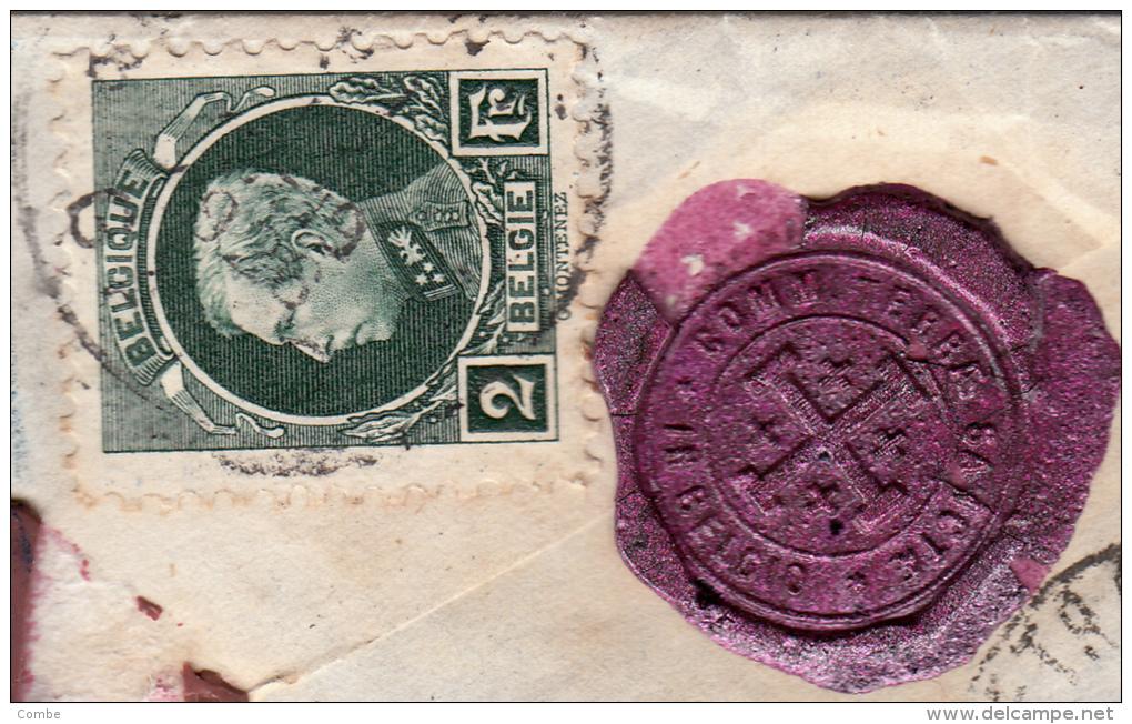 Très Belle Lettre 1926 Commissariat Terre-Sainte à Gand Pour Jérusalem (11gr, 120frs) /3318 - Briefe U. Dokumente