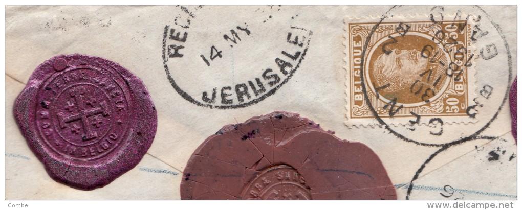 Très Belle Lettre 1926 Commissariat Terre-Sainte à Gand Pour Jérusalem (11gr, 120frs) /3318 - Belgien