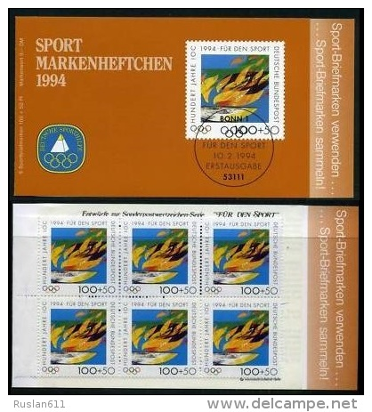 Olympic Games 1994 Germany Booklet 1719 MNH ** 100 Years IOC - Olympic Games