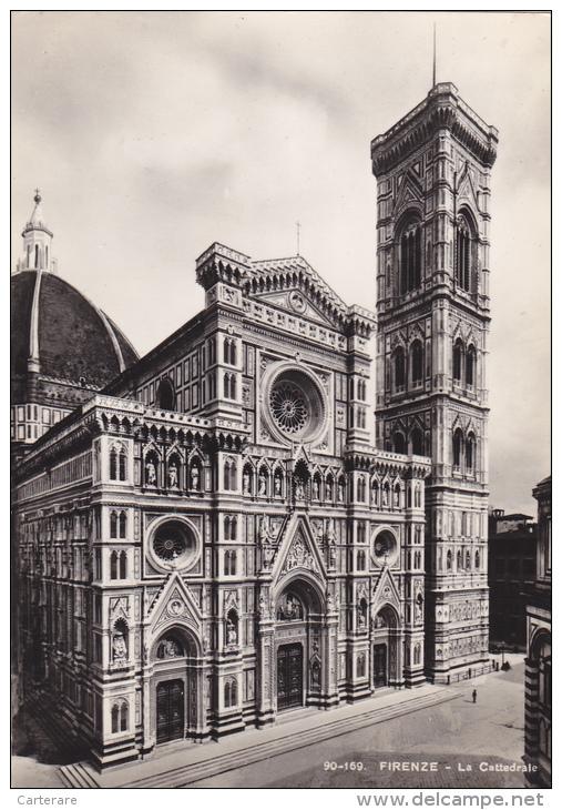 ITALIE,ITALIA,TOSCANE,TOS CANA, FLORENCE EN 1950,FIRENZE,la Cattedrale E Il Campanile,FLORENZ,berceau Renaissance - Firenze (Florence)