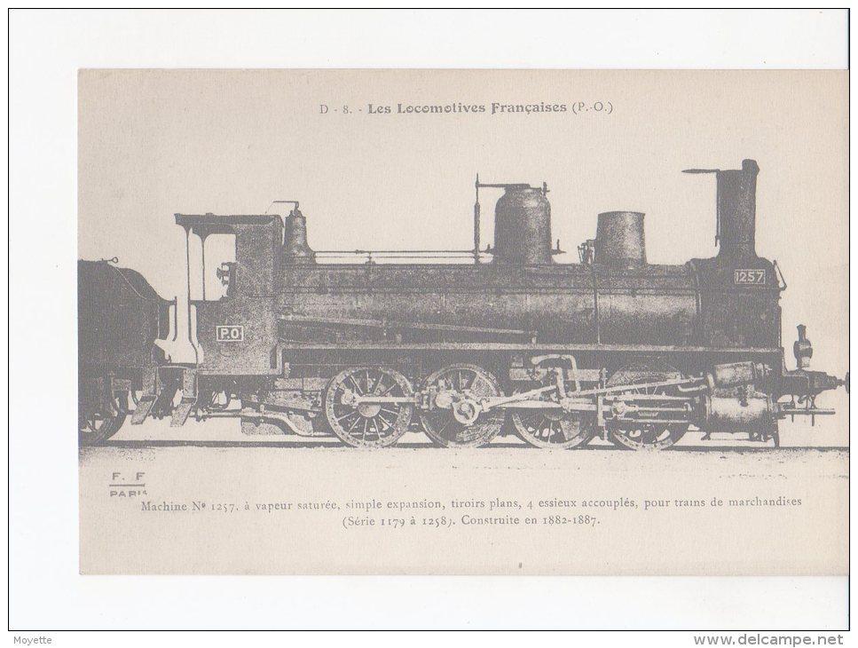 CPA-TRANSPORTS-TRAINS-....LOCOMOTIVE-FRANCAISES-P.O -MACHINE N° 1257 -A VAPEUR SATUREE POUR TRAINS DE MARCHANDISES - Eisenbahnen