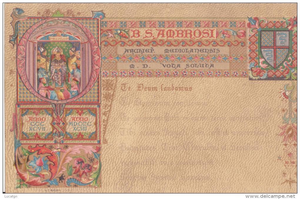 Regno 1897 - Feste Ambrosiane Di Milano - Grappolo - - Eventi