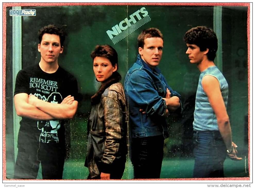 Kleines Musik-Poster  -  Gruppe Fehlfarben  -  Rückseite : Gruppe Nichts  -  Von Pop Rocky Ca. 1982 - Plakate & Poster