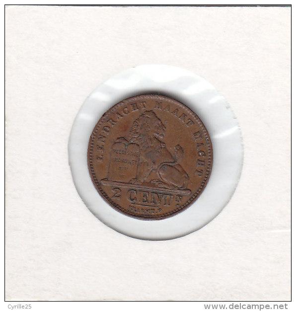 2 CENTIMES Cupro-nickel Albert I 1911 FL - 1909-1934: Albert I