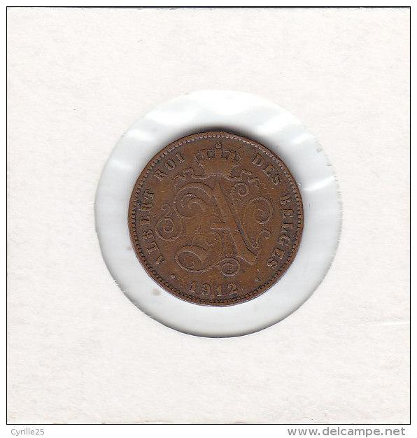 2 CENTIMES Cupro-nickel Albert I 1912 FR - 1909-1934: Albert I
