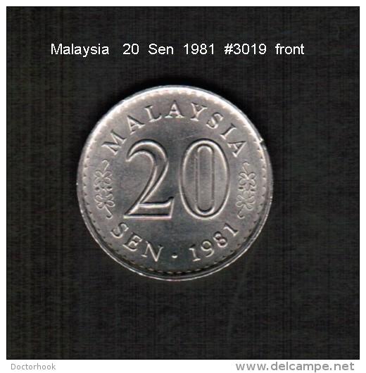 MALAYSIA   20  SEN  1981  (KM # 4) - Malaysia