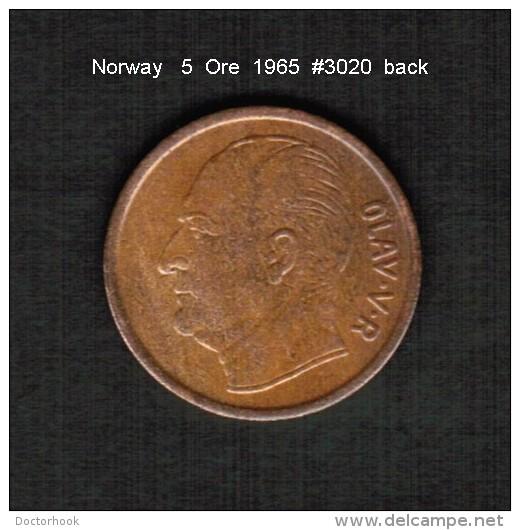 NORWAY   5  ORE  1965  (KM # 405) - Norvegia