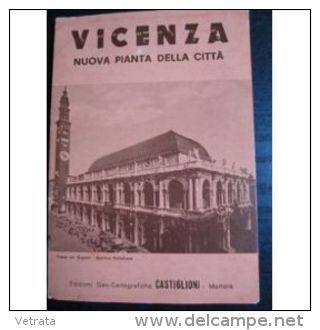 Plan De Vicenza, Italie, 1989 (Vicence - Déplié : 78x48 Cm) - Livres, BD, Revues