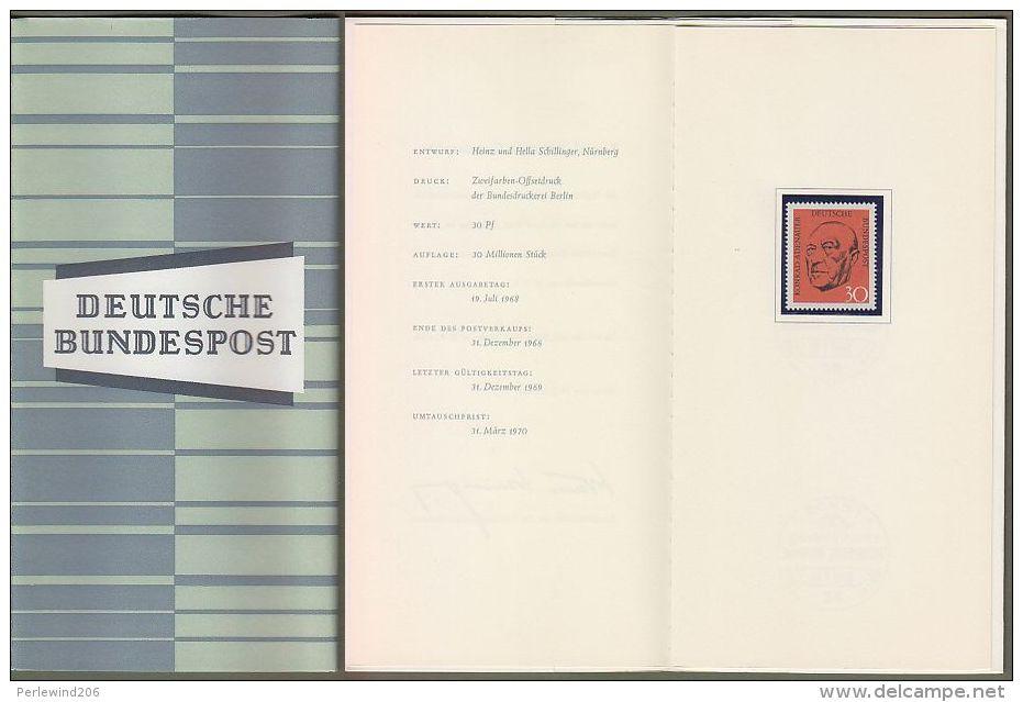 "Bund : Minister Card - Ministerkarte Typ III, Mi-Nr. 567: "" Todestag Bundeskanzler Konrad Adenauer ""  ! - Brieven En Documenten"