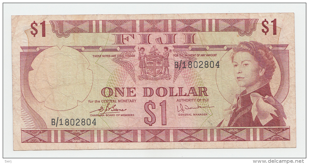 Fiji 1 Dollar 1974 VF P 71b  71 B - Fiji
