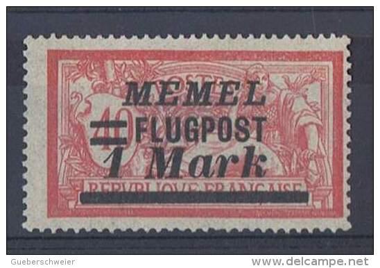MEM 82 - MEMEL Belle Variété Merson PA 21 Sans Teinte De Fond Neuf** RARE !! - Memel (1920-1924)