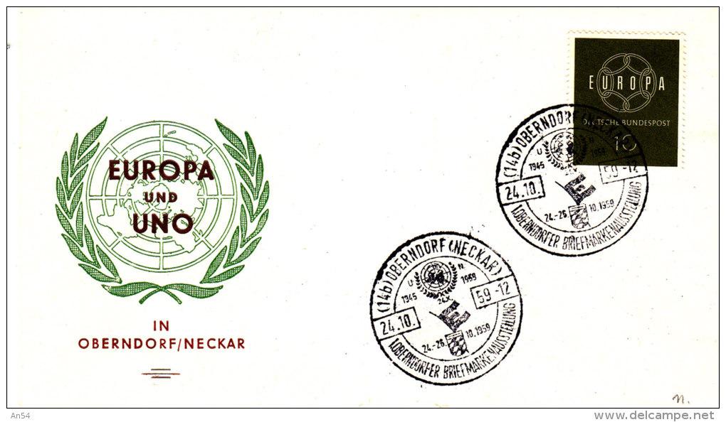 FDC  EUROPA   1959 - Europa-CEPT