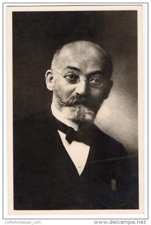 Esperanto  D-ro L Zamenhof  Zionist Judaica Carte Postale Real Photo Vintage Original Postcard Cpa Ak (W3_2787) - Esperanto