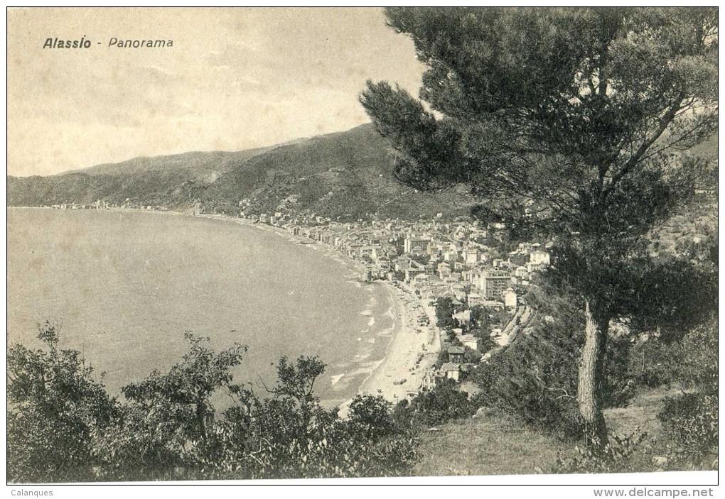Lot 2 CPA Alassio - Veduta Dalla Cottina Du Santa Cruz - Panorama - Italia