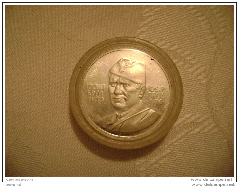 Silver Silber Broz Tito Jajce 1943 - 1973 In Etui - Unknown Origin