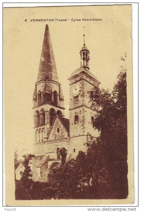 Cpa   Vermenton   L'église - Vermenton
