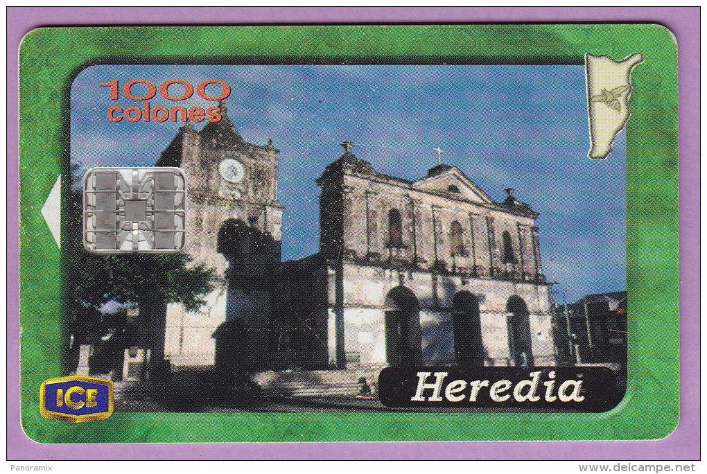 Télécarte Costa  Rica °° 1000 Colones  Sc 7  °  Heredia  2001     ***   T  B  E - Costa Rica