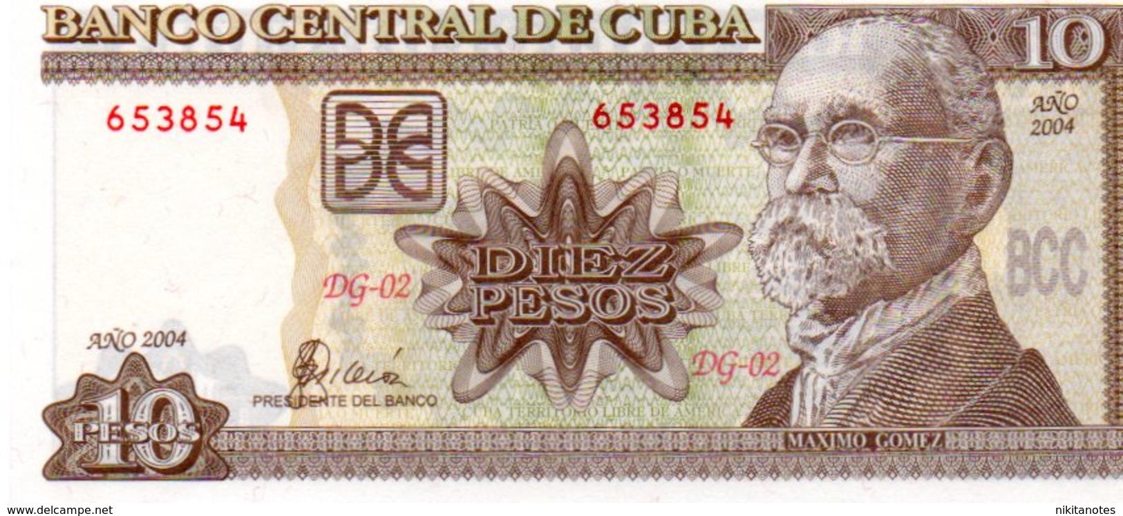 CUBA 10 PESOS 2004 UNC - Cuba