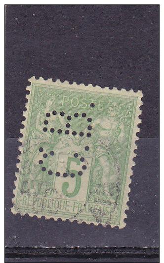 France - Timbre Perforé  C B   Type Sage  Y&T 75 - France