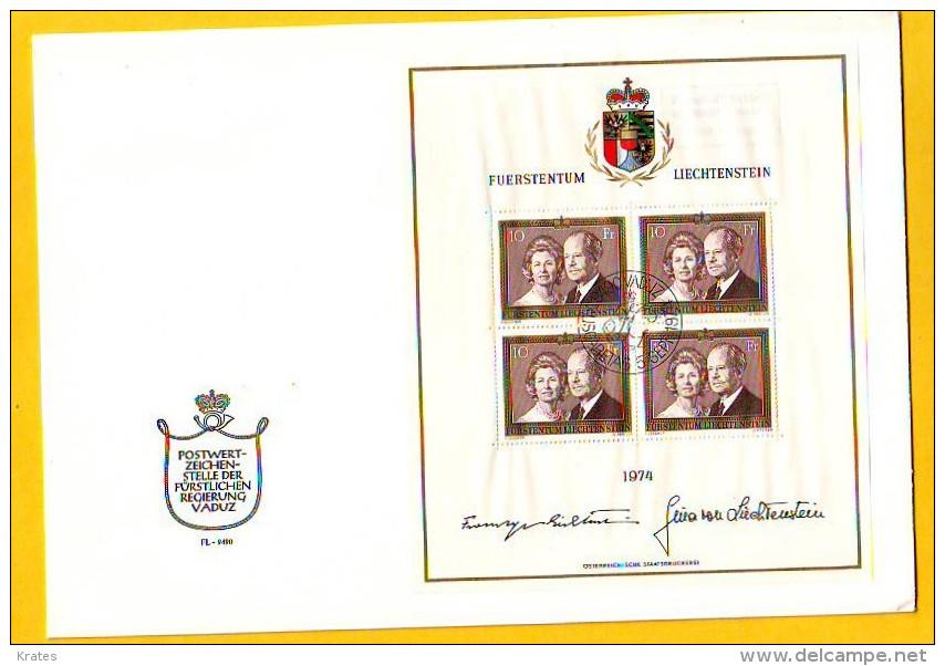 Old Letter - Liechtenstein, FDC - FDC