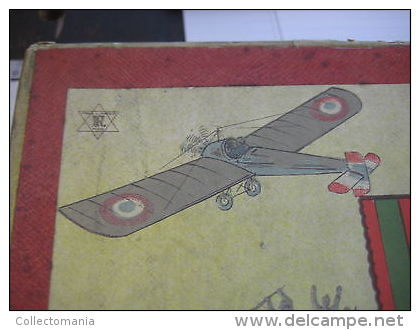 Jigsaw In PLASTER Shapes With Lithography , 3 Such  Puzzles In Original Box , C1918 : Medailles Medals Flags  Battles - Frankreich