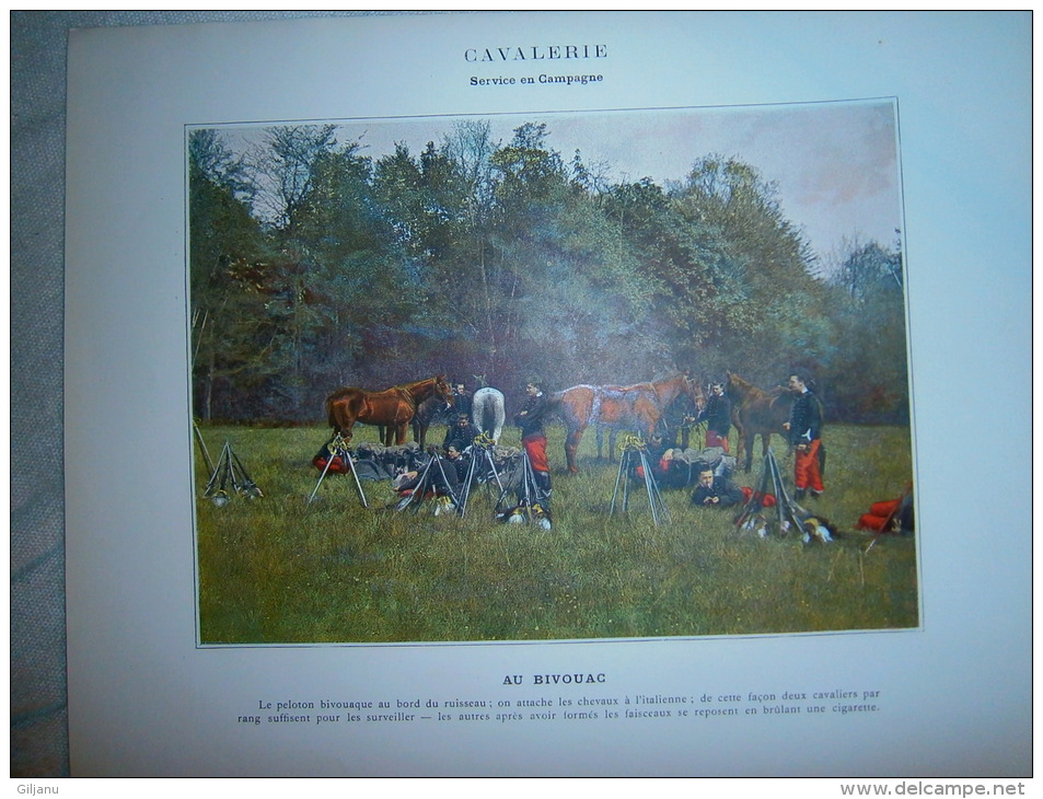 IMAGE  CAVALERIE  AU BIVOUAC - Andere